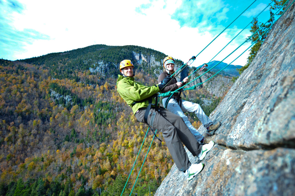 Team Rappeling in Lake Placid