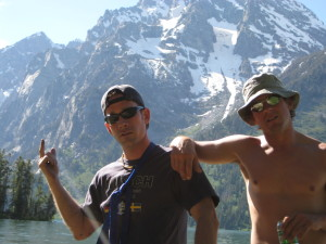 Tim (left) Gary (Right) on the approach to Mount Moran