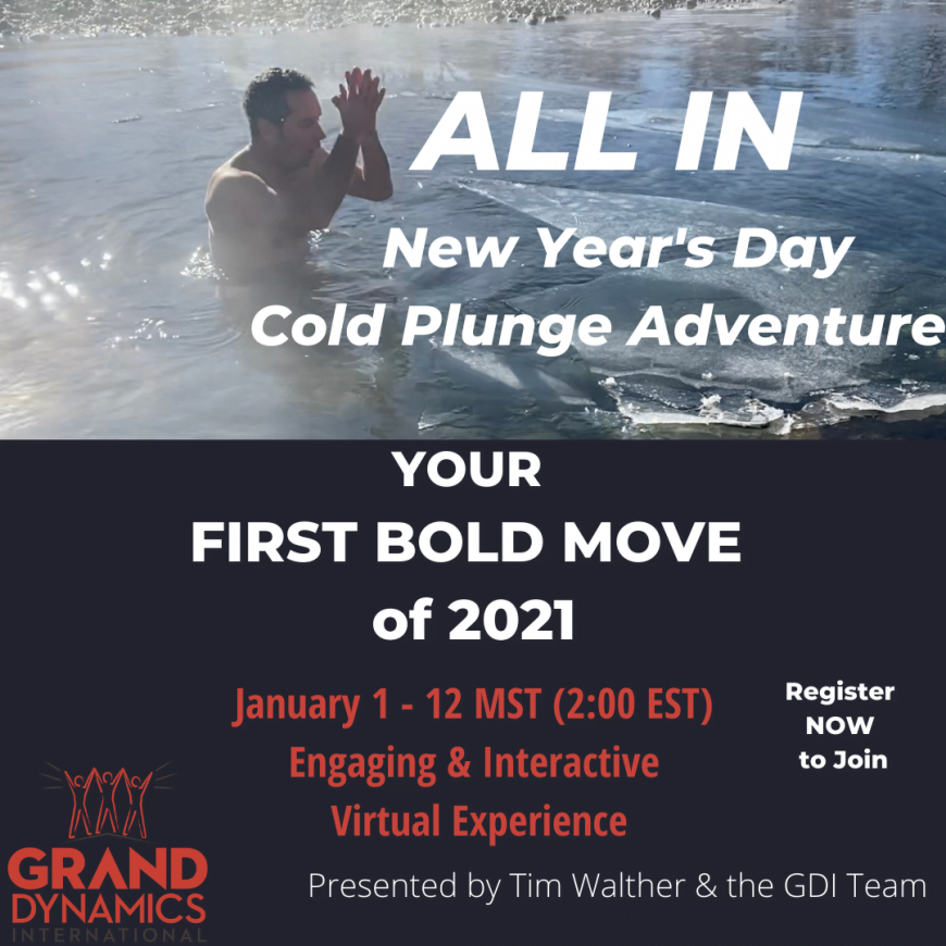 ALL IN!  New Year's Day Cold Plunge Adventure